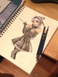 Gothic Anime Faber Castell Tutorial Original 01